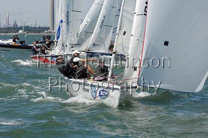 SCW07-0108   Skandia Cowes Week 2007 day 0, August 3 Kings Cup SB3 Fleet   Keywords: Skandia Cowes Week 2007 day 0, August 3 Kings Cup SB3 Fleet
