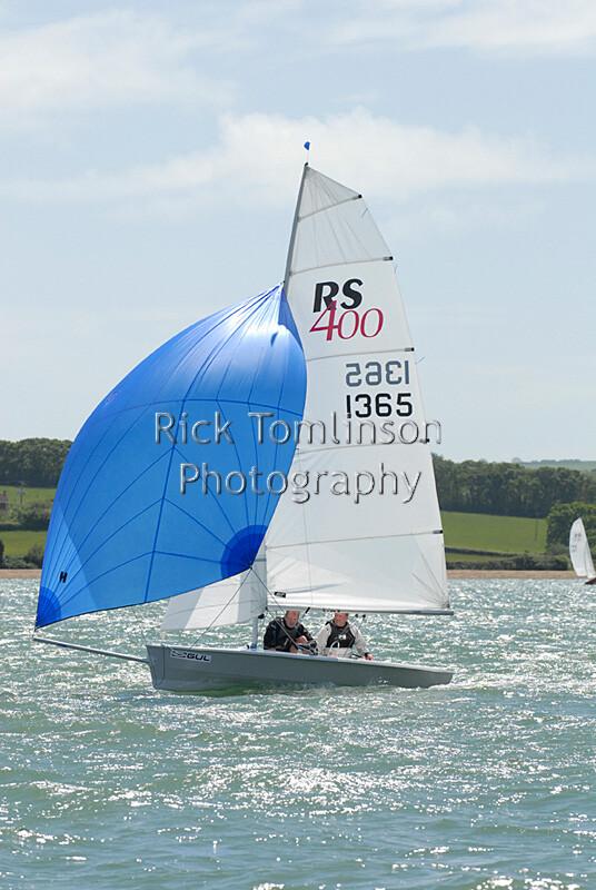 RS400RT-0382   RS400 Open Meeting at Gurnard Sailing Club, racing in Thorness Bay close to Gurnard Isle of Wight   Keywords: RS400 Gurnard