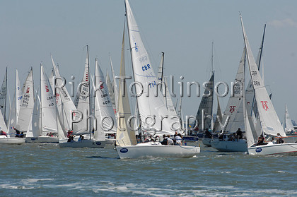 SCW07-0087   Skandia Cowes Week 2007 day 1, Saturday August 4 Fleet SBR GBR714 Juno   Keywords: Skandia Cowes Week 2007 day 1, Saturday August 4 Fleet SBR GBR714 Juno