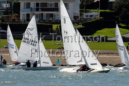 SCW07-0105   Skandia Cowes Week 2007 day 1, Saturday August 4 Flying 15 GBR3884 The Floozie, Swallow S74 Archon   Keywords: Skandia Cowes Week 2007 day 1, Saturday August 4 Flying 15 GBR3884 The Floozie, Swallow S74 Archon