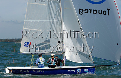 SCW07-0105   Skandia Cowes Week 2007 day 0, August 3 Kings Cup SB3 3141 Powder Monkey   Keywords: Skandia Cowes Week 2007 day 0, August 3 Kings Cup SB3 3141 Powder Monkey