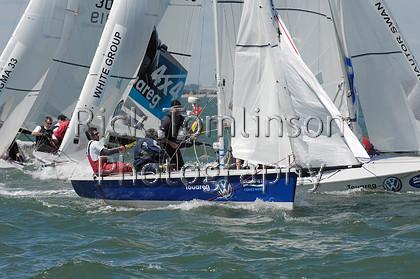 SCW07-0112   Skandia Cowes Week 2007 day 0, August 3 Kings Cup SB3 Fleet, 3057 Baloo   Keywords: Skandia Cowes Week 2007 day 0, August 3 Kings Cup SB3 Fleet, 3057 Baloo